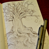Inktober Day 14 - Prompt: Tree by YamPuff