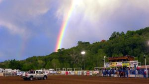 Rainbow Over the Rodeo by jltrafton