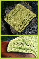 Aran dishcloth by KnitLizzy
