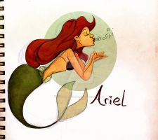 Ariel the little mermaid by demonic-black-cat