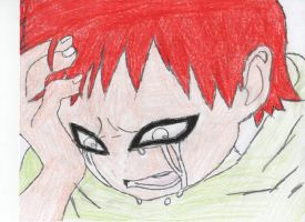 Sad Little Gaara by stealing-Hidans-tofu