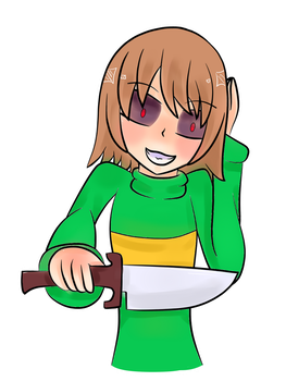 Chara -Undertale- Collab by Vicky-Axl-x-Lola
