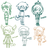 :G: Chibis Batch 1 by kawaiihoshi-san