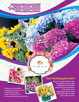 Florist Shop Flyer by inddesigner