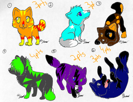 wolfie adopts ^^ by X-CoyoteFeathers-X