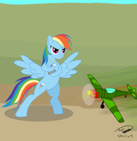 Rainbow Dash's New Toy by Electuroo