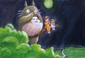 My Neighbour Totoro by awake-in-a-nightmare