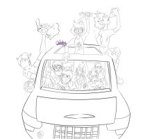 Carstuck Line art by Ondeahy
