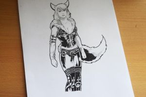Commission: Archie Valkyrie sketch by abe70280