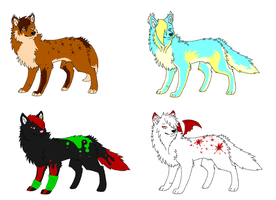 Wolf Adoptables by BlueBerryJellyBean