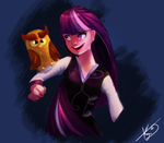 Twilight and her Owl by Searchmeinawhile