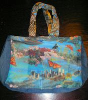 Recycled Jeans Bag 2 by SwirlzDesigns