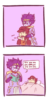 JJBA: Star Platinum is Moe by LissyFishy