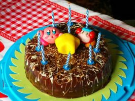 Kirby cake by Efreet-in-the-Oven