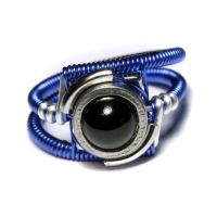 Blue Cyberpunk Ring by CatherinetteRings