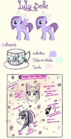 LuLu Belle's Temporary *New* Ref Sheet by raincloudriot