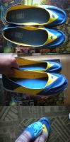 Booster Gold Shoes by JesterRoyale
