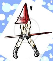 Pyramid Head Water Color by macawnivore