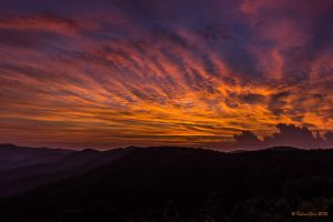 Vivid Sky Over the Mountaintops by PeaTree-Creations