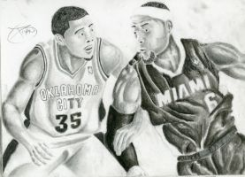 Kevin Durant vs Lebron James by BryanChalas