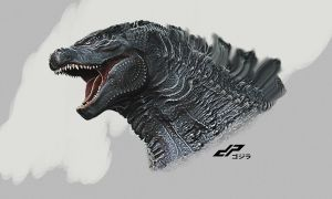 zGODZILLA 2014 head test by dopepope