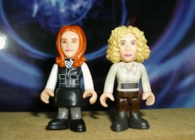 Amy Pond and River Song by CyberDrone