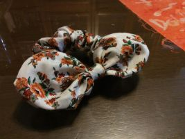Floral Scrunchie with Hair Bow by LaurenceLi