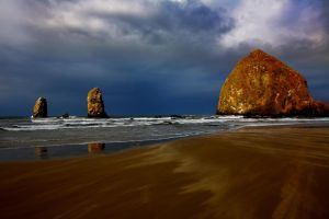 Haystack Rock, II by coulombic