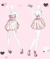 Pink and Fluffy dress design by jolly-GOODsocks-101