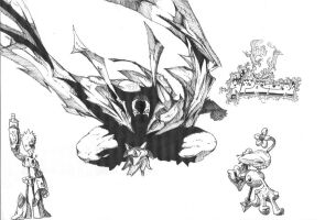 Spawn sketch and others by b33lz3bub