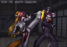 Zoe vs White Shadow by funkyalien