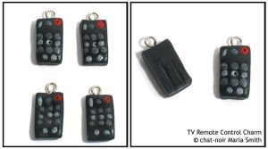 TV Remote Control Charm by chat-noir