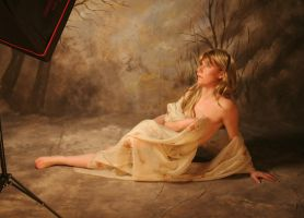 Nude in Silk : Stock by Ange1ica-Stock