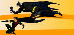 batman and robin by cakash