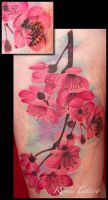 cherry blossom tattoo by Remistattoo