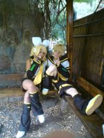 Rin and Len by underxworld