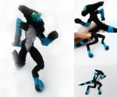 XLR8 Knitted Plush by Rizathepenguin