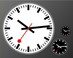 Swiss Railway Clock - Stop2Go edition by Monochromatope