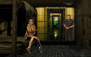 Lindsay Lohan in Jail by superalysson