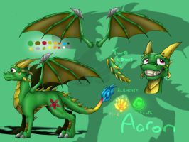 Aaron the Dragon- Ref Sheet by Cyber-Toaster