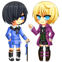 Pixel Ciel And Alois by Chikukko