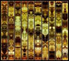 Totemic Wall Panel by james119