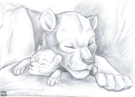 Mother and son by Lionylioness