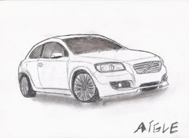 volvo c30 front by aiglemkf