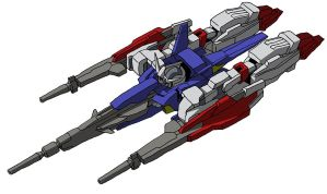 AGE-2DB Gundam AGE-2DB Double Bullet Strider mode by unoservix