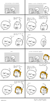 Rage comic, The fight by Brassia
