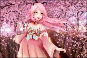 .: Kawaii~Chan - Cherry Blossoms :. by KittenTube