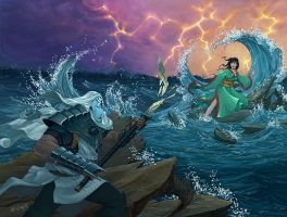 L5R: Thundering Waves by LeeSmith