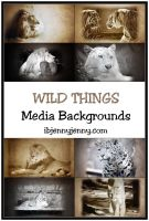 Free Wild Things Media Backgrounds/Textures by ibjennyjenny