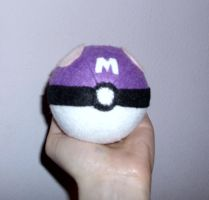 Master Ball plushie pincushion by FreakieGeekie
